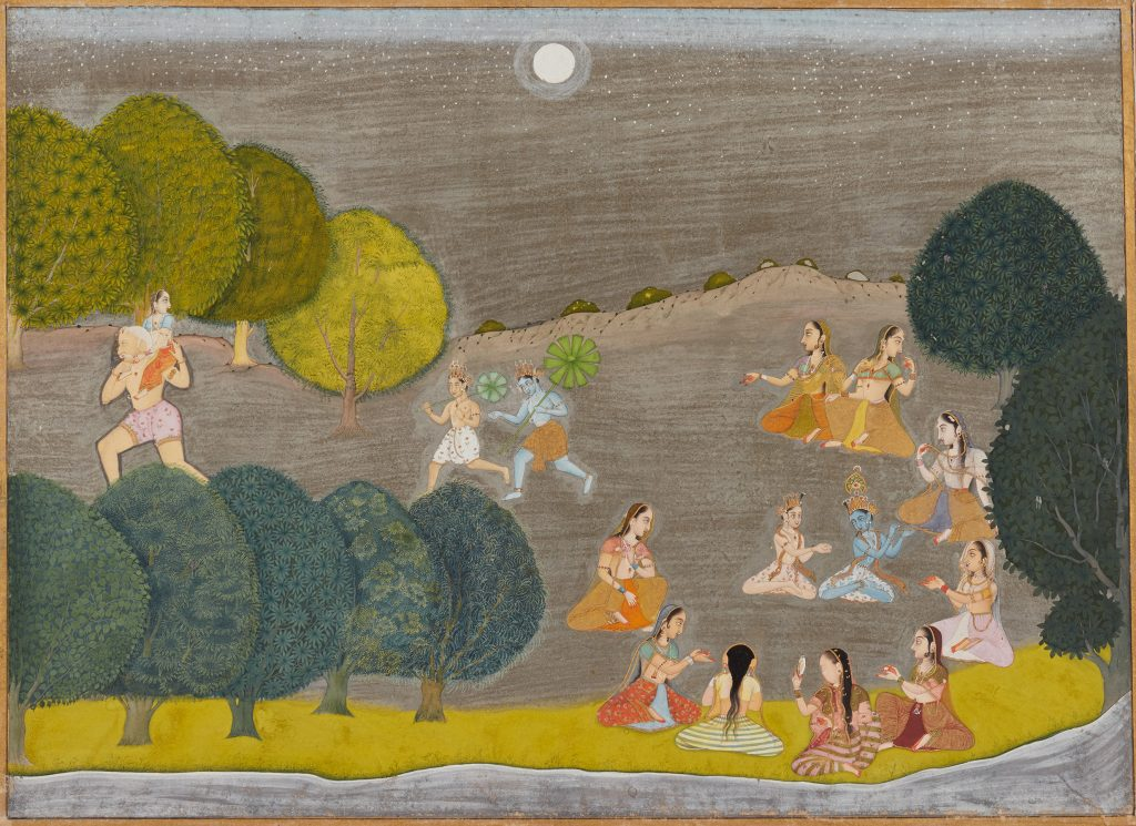 Krishna and Balarama in Pursuit of the Demon Shankashura, (Cira 1690)