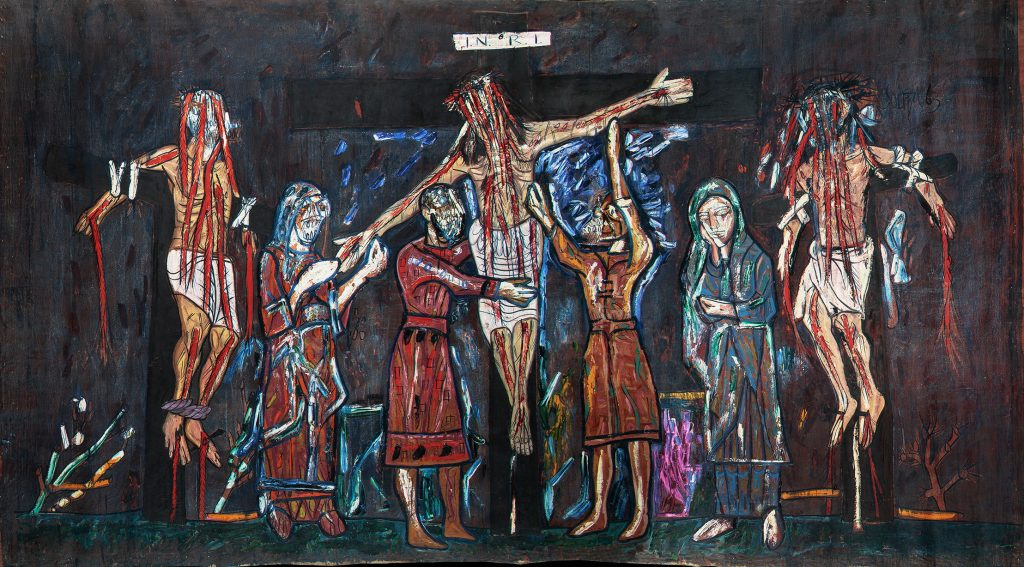 F. N. Souza,Crucifixion, 1963,