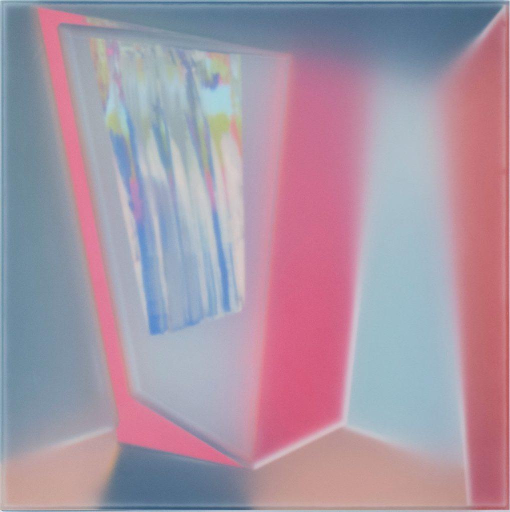 "Kal Mansur, Habitat, 2018, acrylic sculpture,18"" x 18"" x 2.75"""
