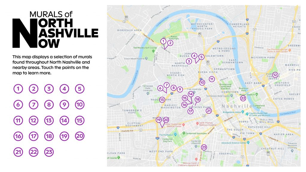 Murals of North Nashville Now. Courtesy of the Frist Art Museum