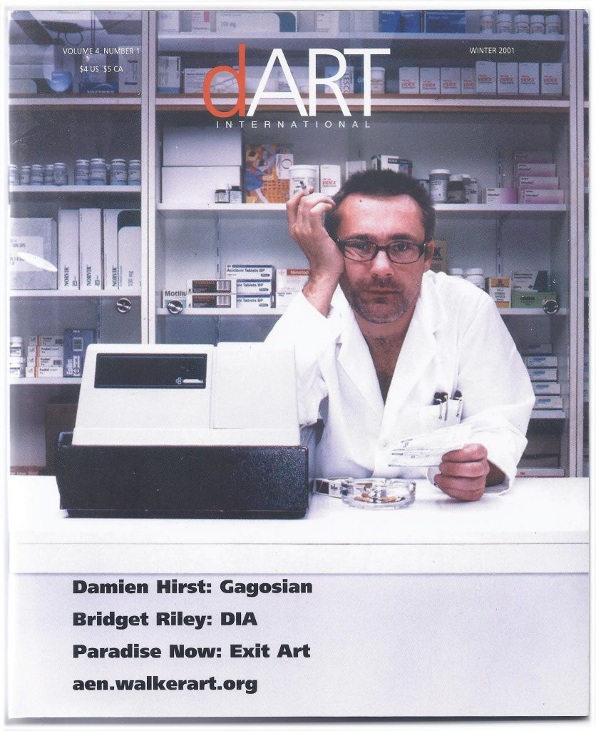 Winter 2001 dArt International cover featuring Damian First as a pharmacist