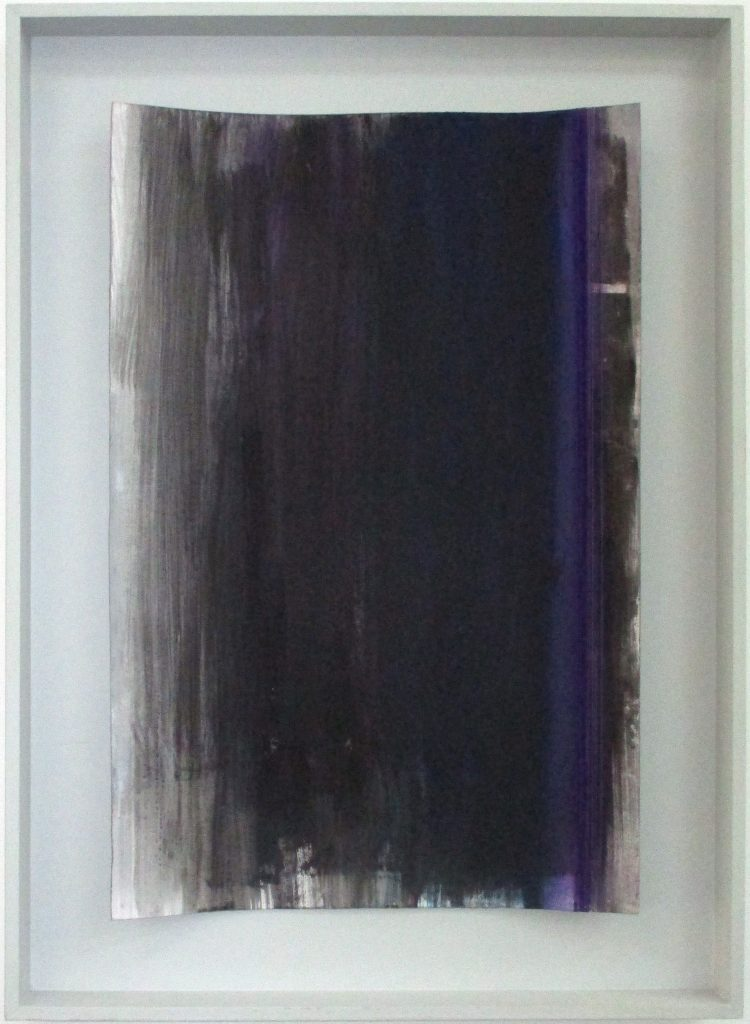 Gretl Bauer_Violet; paper, thread and gouache; 30x19 inches