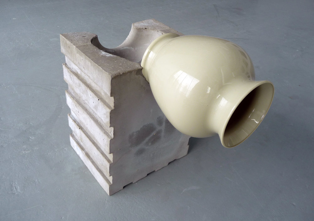 Jaroslava Prihodova, Objects series (2015), concrete, plastic, 11 ½ x 12 x 7 ½ inches (photo: courtesy of the artist)