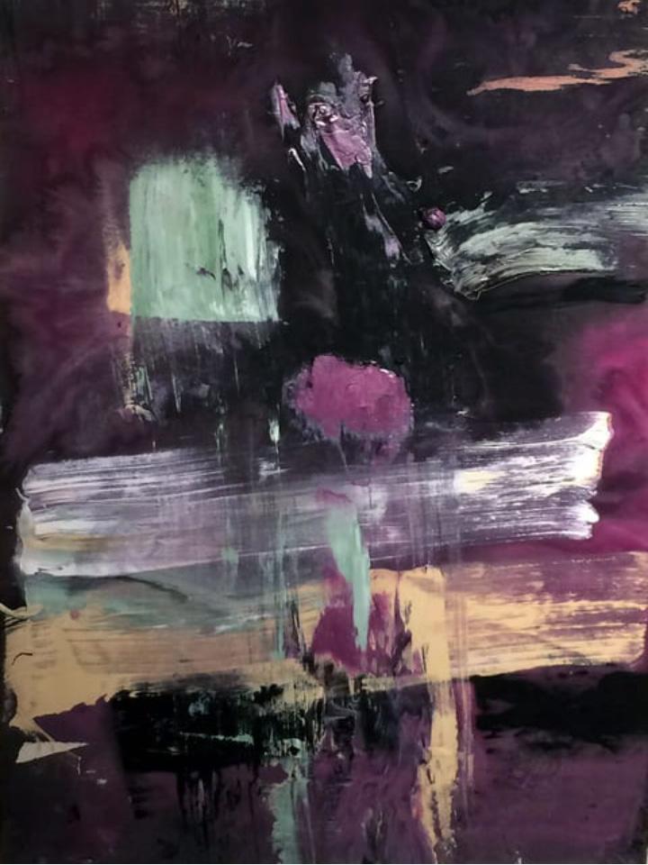 Francine Tint, Crucifixion, 2017, acrylic on canvas, 132.1 x 101.6 cm
