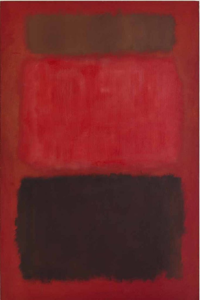 "Mark Rothko, ""Browns and Blacks in Reds,"" oil on canvas, 91 x 60,"" 1957, Courtesy of Mnuchin Gallery, New York"