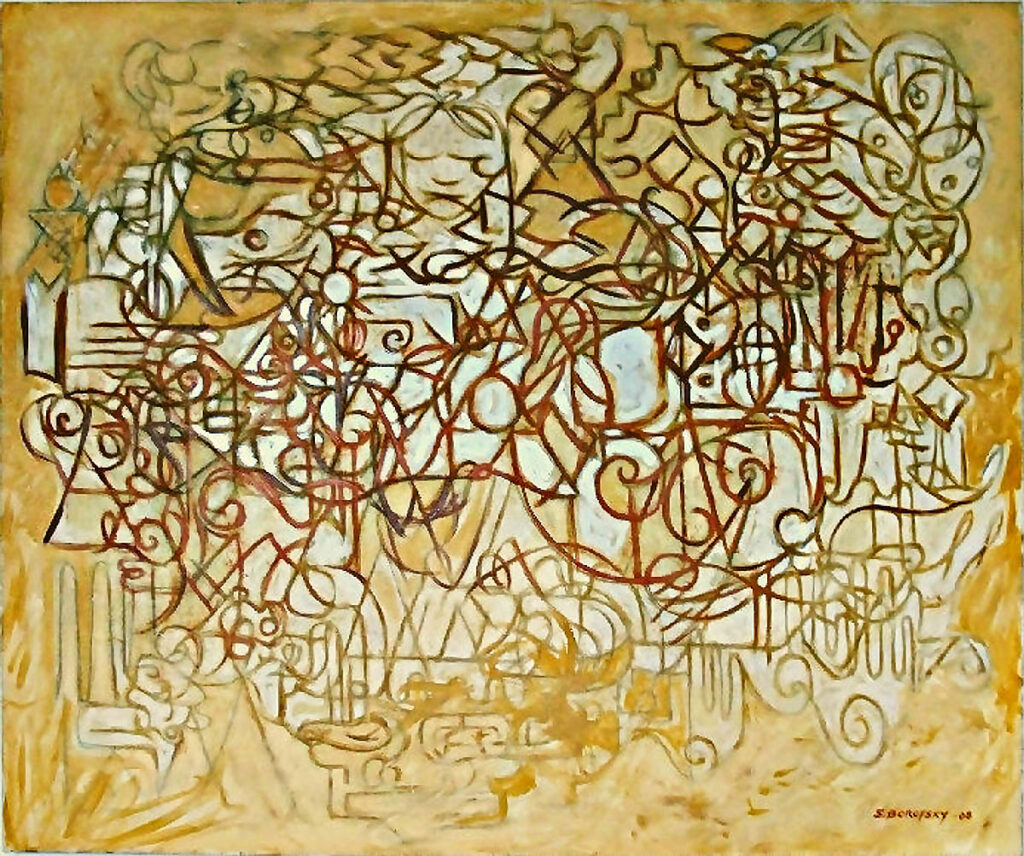 Scot Borofsky, Summer Hay, 2008, oil on canvas, 50: x 60""