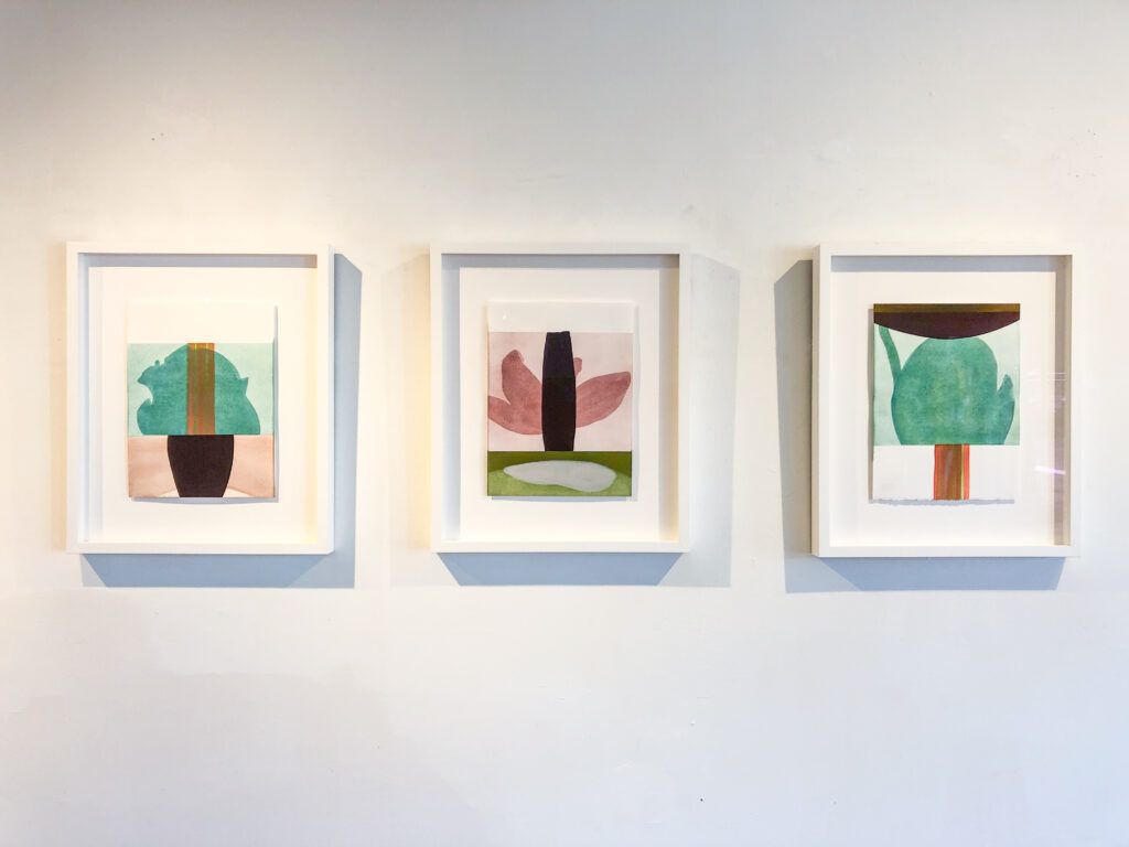 """Sarah Hinckley, """"after the wind 14, 18, 12"""" ,  installation view"""