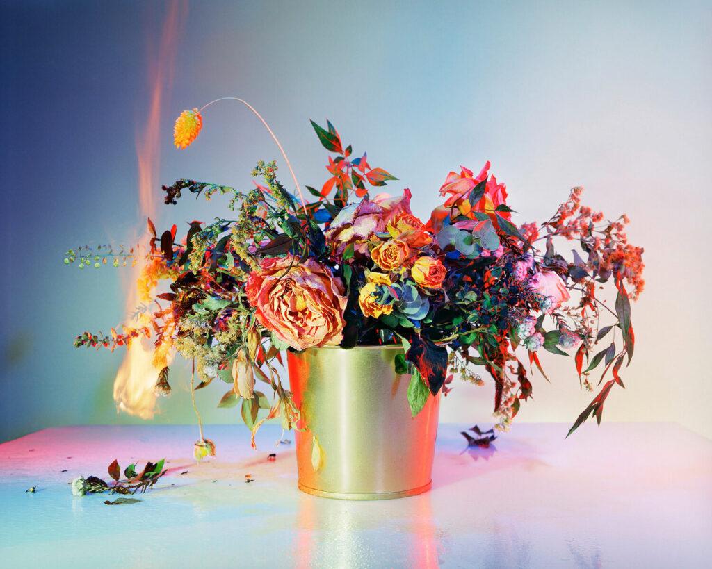 "Amanda Arcuri, A Shot in the Dark 11, 2019, C-Print with Plexi Pink Frame, 50"" x 40"""