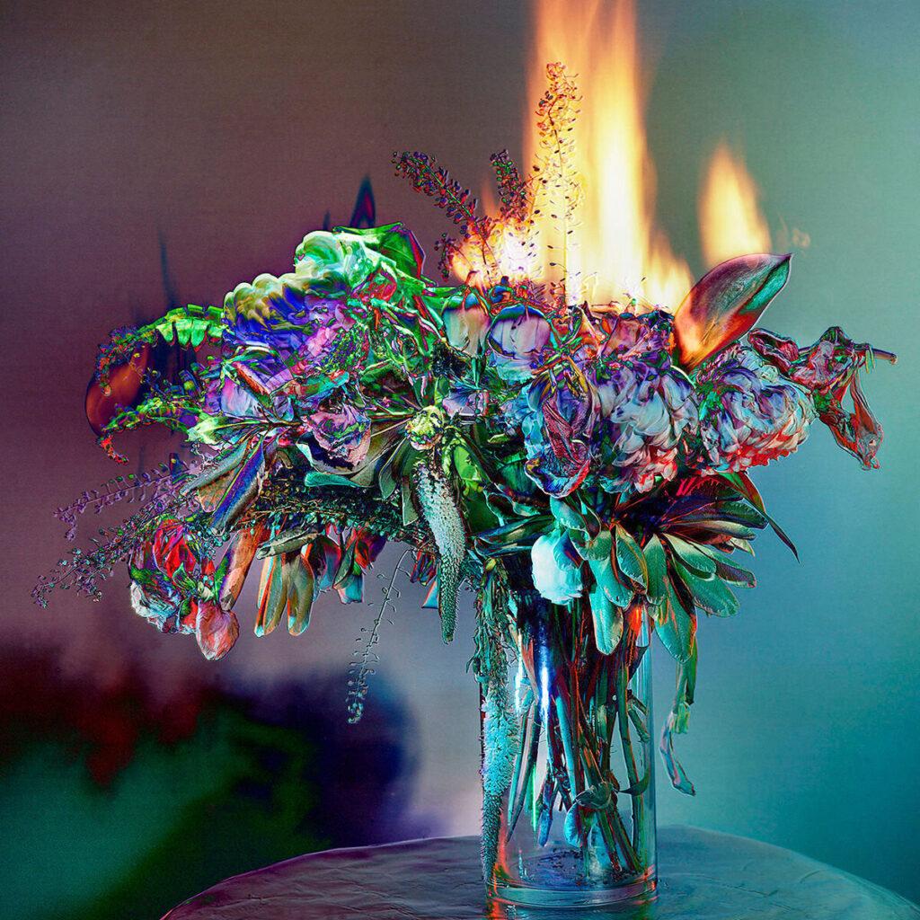"Amanda Arcuri, Remix 01, 2020, Archival Digital Print on Rag Paper, White Shadow Box Frame, 12"" x 12""; 17"" x 17"" with frame"