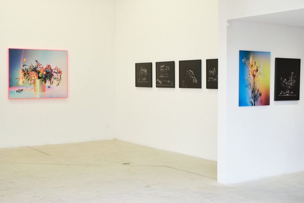 Installation view of Fire and Dust at United Contemporary, 2021