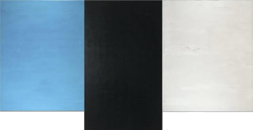 Wings © Francie Lyshak © 2021 Triptych, oil on linen, 40 x 76 inches
