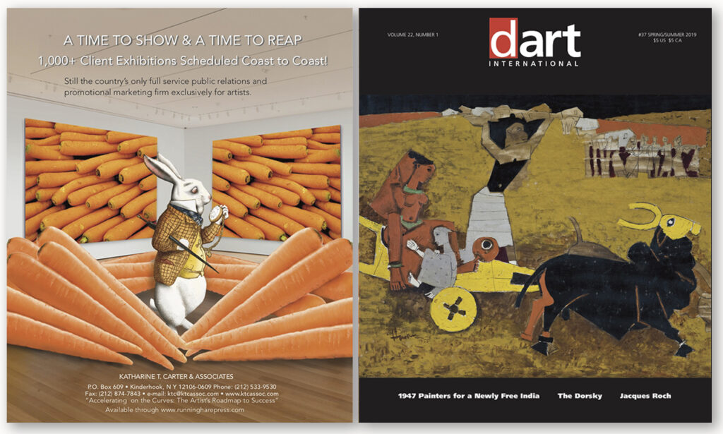 Front and back covers of the Spring/Summer 2019 edition of dArt magazine.
