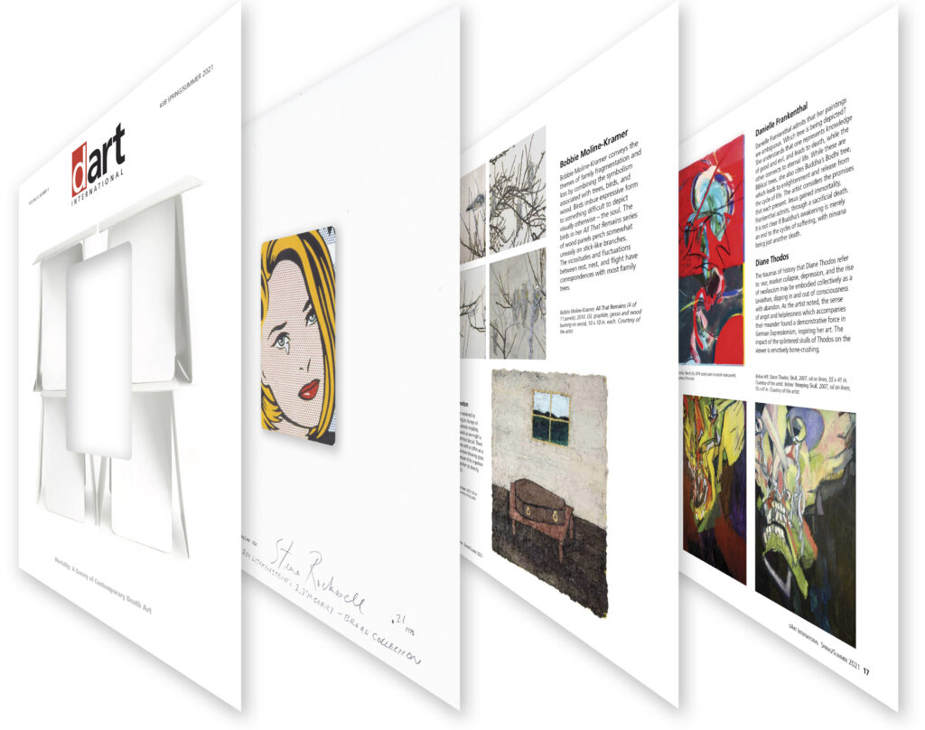 """Pages 16 and 17 of the Spring/Summer 2021 edition as viewed through Roy Litchtenstein's """"I...I'm Sorry!"""" as it had been cropped for this special edition."""