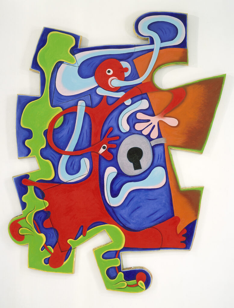 Elizabeth Murray, Back In Town, 1999, oil on canvas, 97 x 92 inches