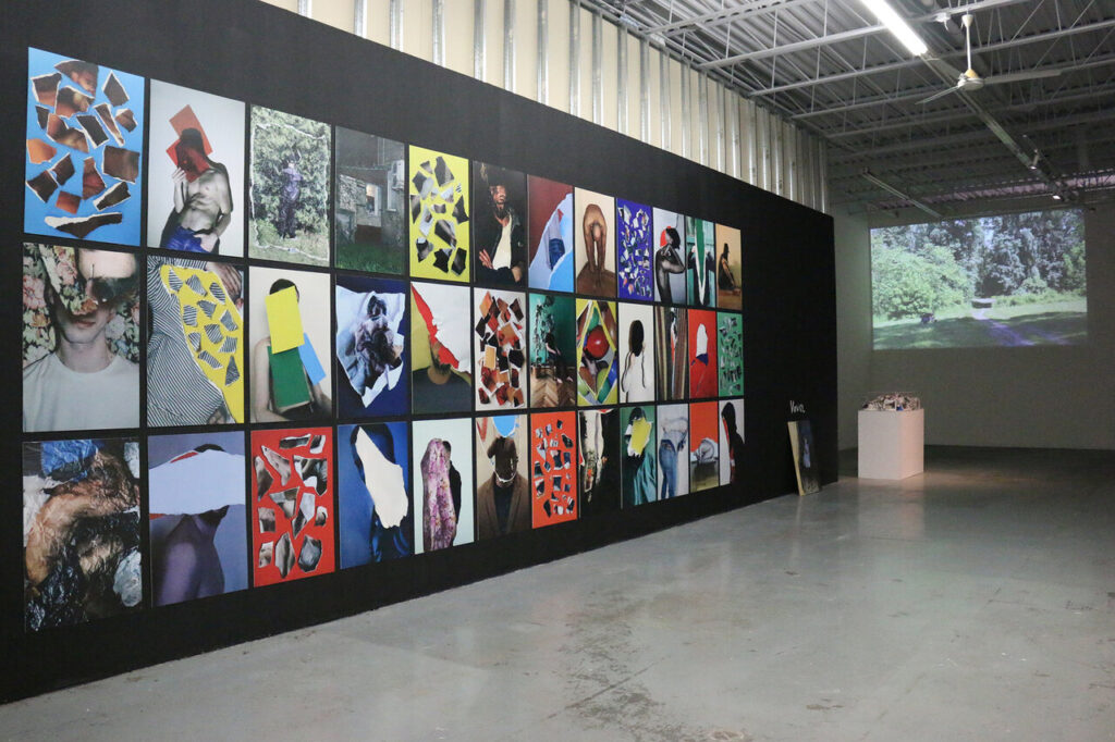 Installation view of Anton Shebetko, common people, 2018