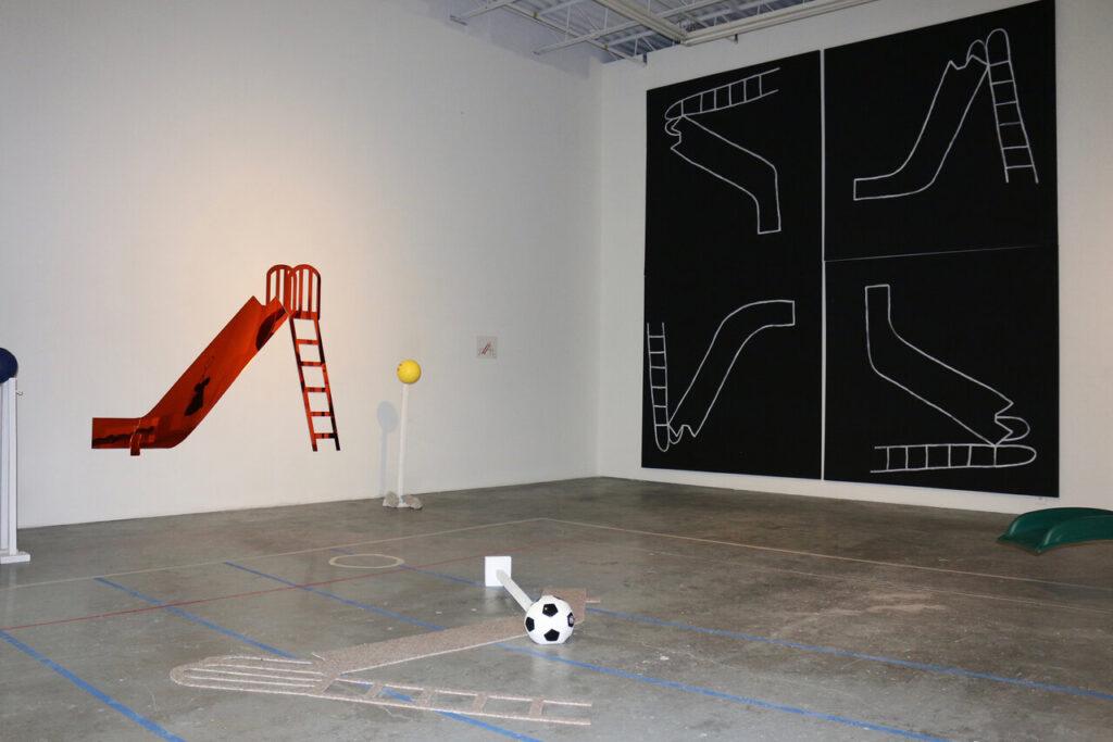 Installation view of Oscar Figueroa, Slides, 2018