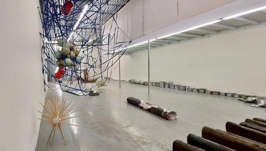 Installation view of Robert Kananaj, local light 2020-21