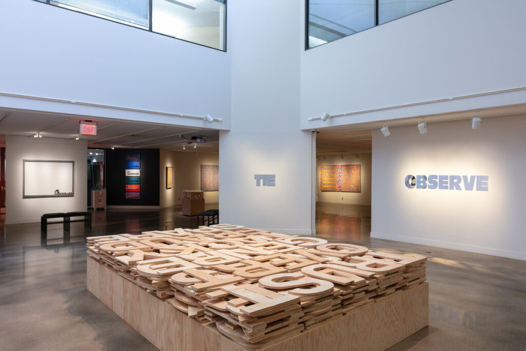 Roland Bernier: In Other Words, Installation View (2021), all images courtesy of Arvada Center for the Arts and Humanities unless otherwise stated