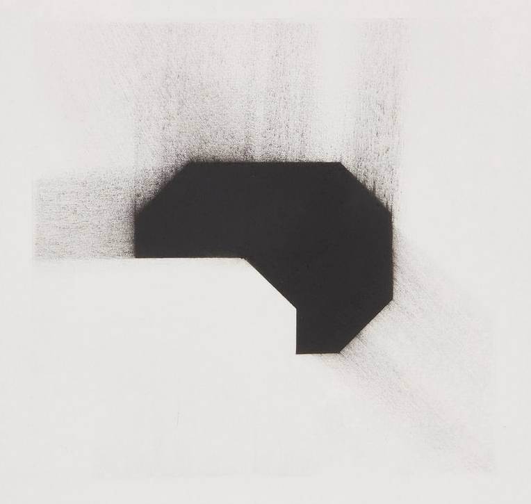Enrico Gomez, Cuervo IV Redux (2020) charcoal on paper, 11 x 11 inches unframed