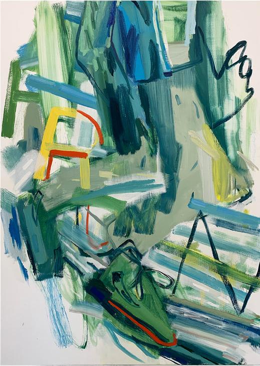 Adam Novak, Run1 (2021), oil on canvas, 72 x 48 inches